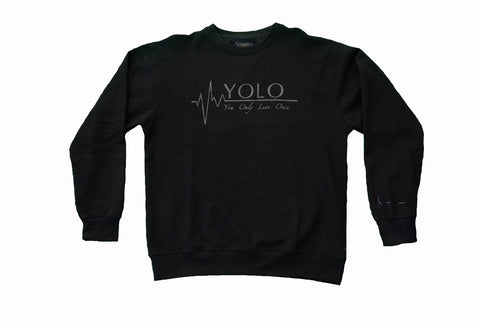 ALL BLACK EVERYTHING (Black crewneck)