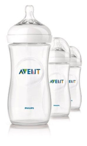 Philips Avent BPA Free Natural Polypropylene Bottle 11 Ounce 3-Count SCF696/37