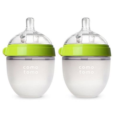 Comotomo Baby Bottle Green 5 Ounce 2 Count Comotomo 150ml Green