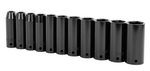 11-piece 1/2-inch Drive SAE Deep Impact Socket Set Stanley 97-125 Buy Now