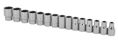 Professional Grade Metric Socket Set 1/2-inch Drive 12-point 15-piece Stanley 89-339 Buy Now