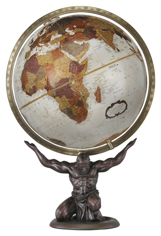 Atlas Bronze Metallic 12-inch Tabletop Globe