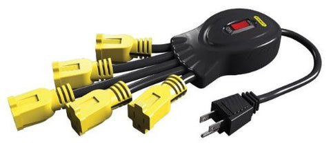Power Squid with 5-Grounded Outlets Black/Yellow Grounded Outlets Stanley 31500 Buy Now