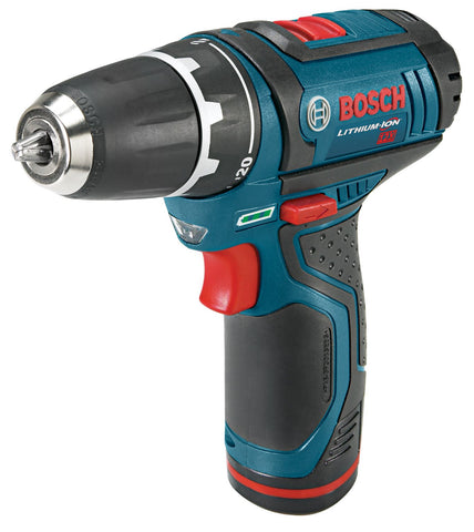 2-Speed Drill/Driver Kit 12-Volt Max Lithium-Ion 3/8-Inch with 2 Batteries Charger and Case Blue Bosch PS31-2A Buy Now