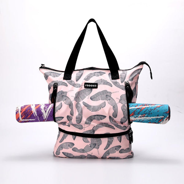 #FDK-092-Fodoko yoga bag- with shoe compartment with long handle for easy carrying