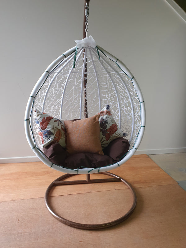 Egg Chair  - Textured weaved Rattan with stand