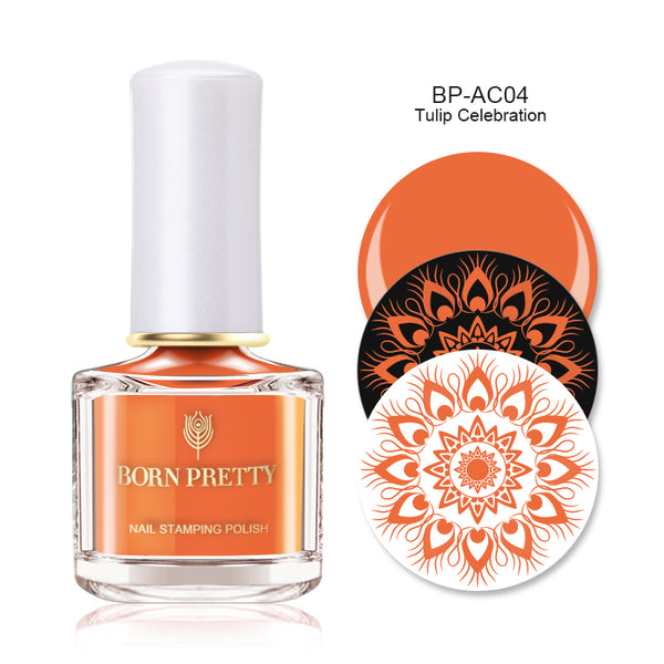 Nail Stamping Polish - Tulip Celebration -BP-AC04- Orange