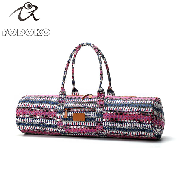 #FDK-005- Fodoko yoga bag- with dual carry straps for holding heavier mats with outside zipped pocket