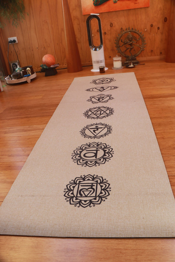 Yoga Mat - Eco- Friendly Jute Linen & Eco Rubber back