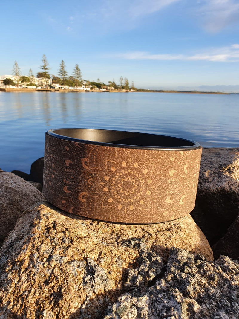 Yoga PU Wheel with Gold symbols