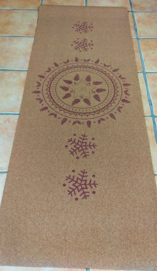 Yoga Cork Eco-friendly odor repellent Mat- with anti-slip surface