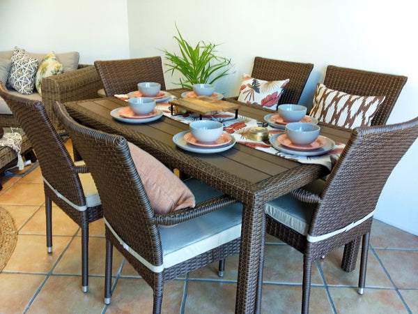 "7 Pc Dining Set - 6 chairs and Dining Table - "" The Harvey"""