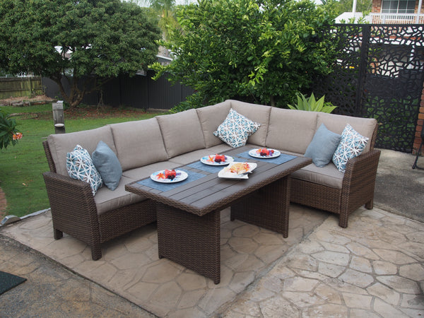 "7 Pc  Sectional Sofa  & Table Set - ""The Arabella"""
