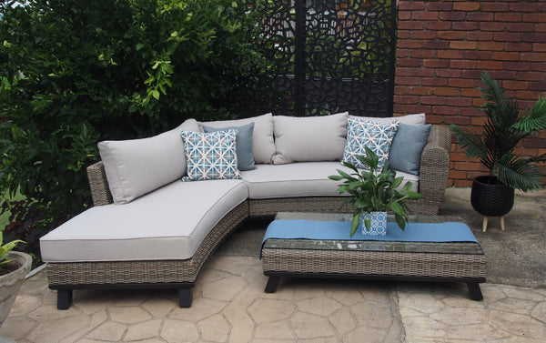 "4 Seater Chaise Lounge Sofa Set- ""The Lilac"""