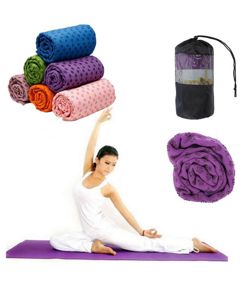 Yoga Towel - Mirco-Fiber Long with super absorbent  lightweight fabric ( Free Mesh bag )included
