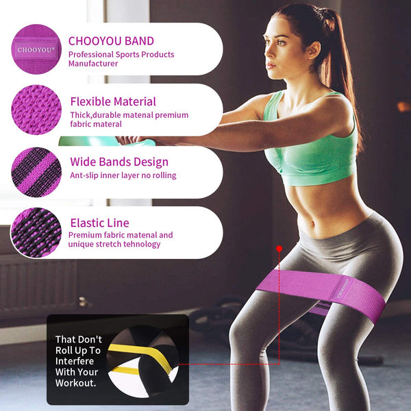Exercise Resistance Booty Bands - 3 pack chooyou brand