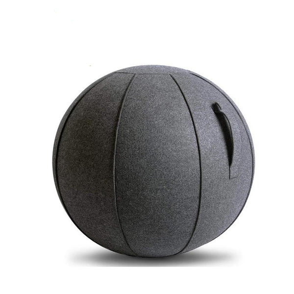 Balance Ball Chair with Cover & Pump- Charcoal Grey- 65CM