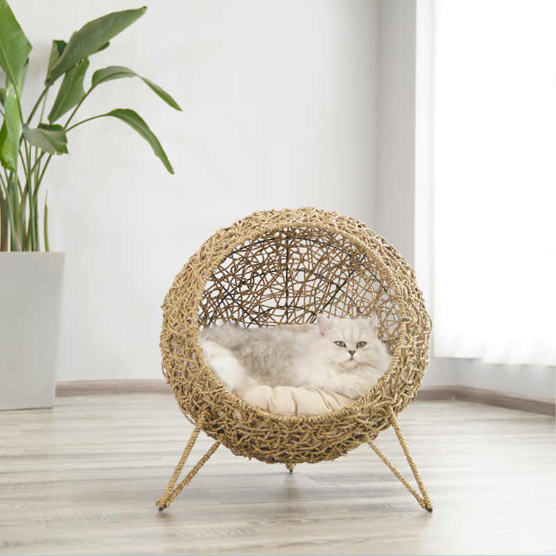 Cat Egg Chair -made from sustainable natural organic sea grass
