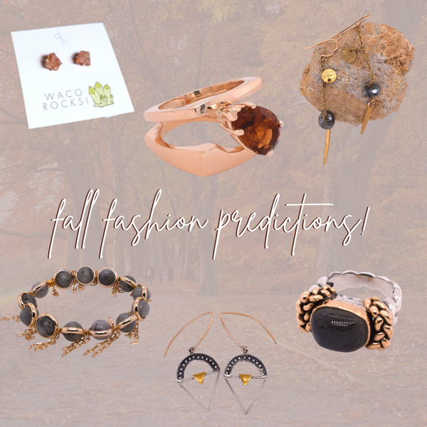 fall fashion predictions collage featuring jewelry