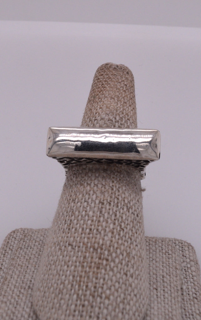 Dian Malouf Sterling Silver Arch Bar Ring