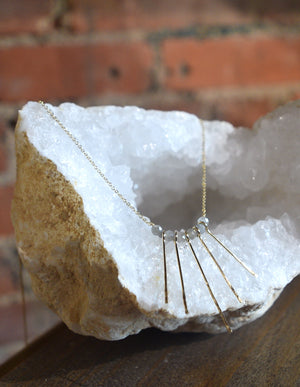 Hammered Fringe Labradorite Necklace