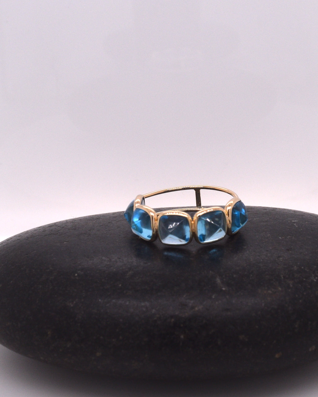 Five Stone Candy Stackable Ring