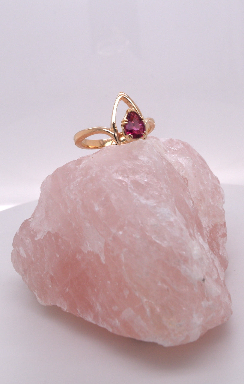 14kt Yellow Gold Rubelite Stackable Ring