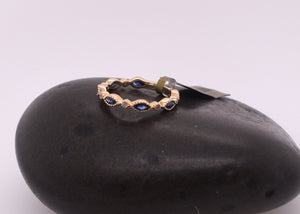 Marquis Sapphire and Diamond Stackable Ring