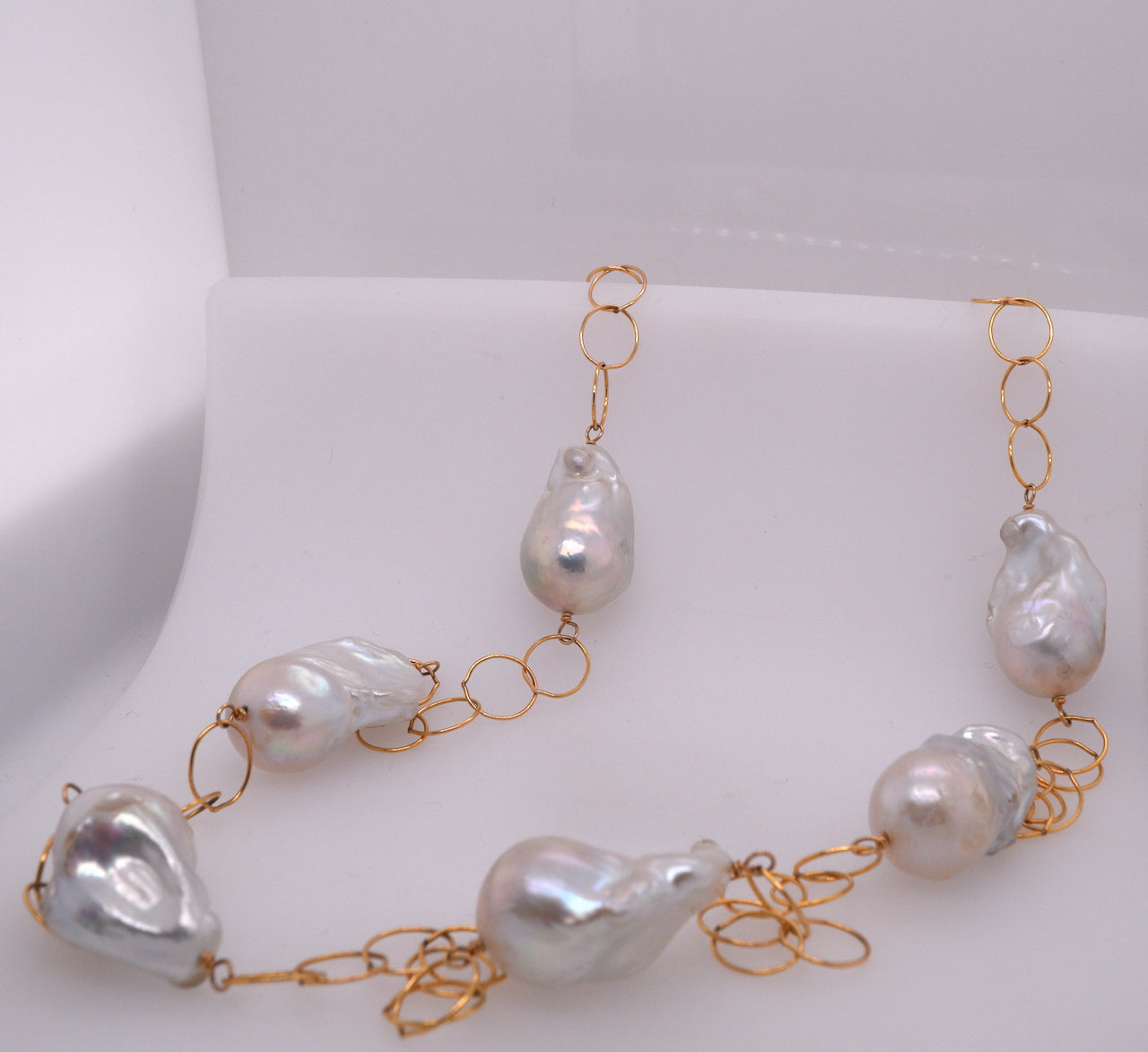 Long Pearl Accent Necklace