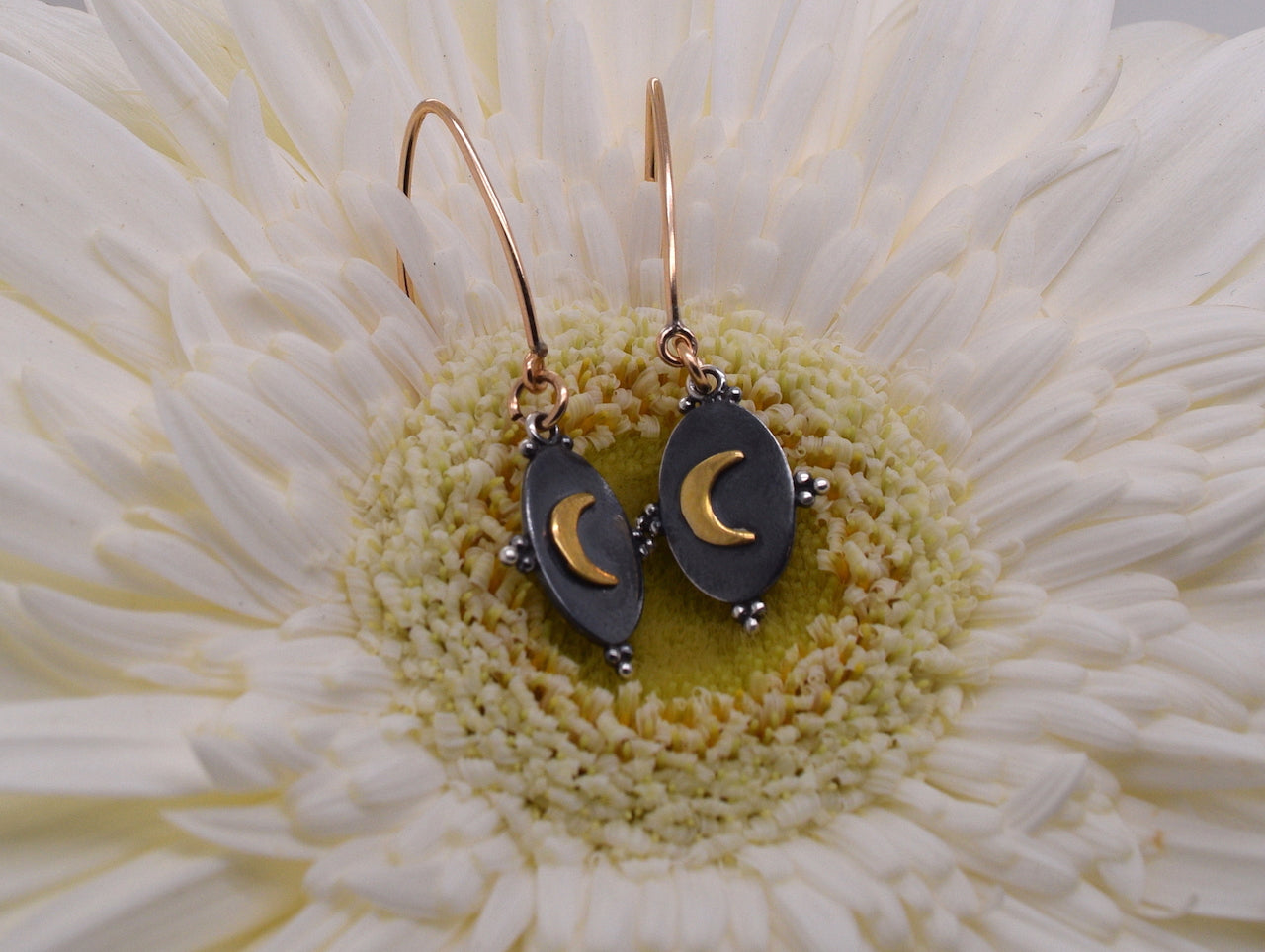Crescent Moon Two Tone Threaders