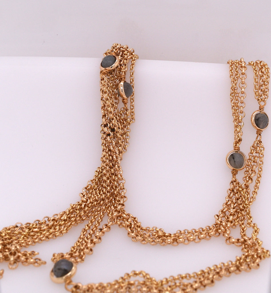 Multi-Chain Lariat Necklace