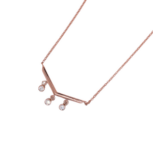 14kt Rose Gold Diamond Drip Necklace