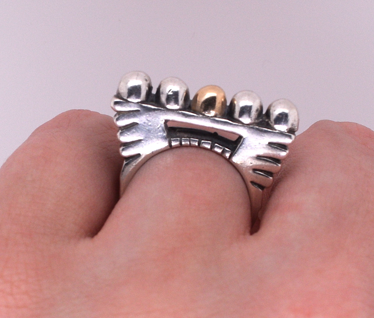 Dian Malouf Silver Ring of Chance