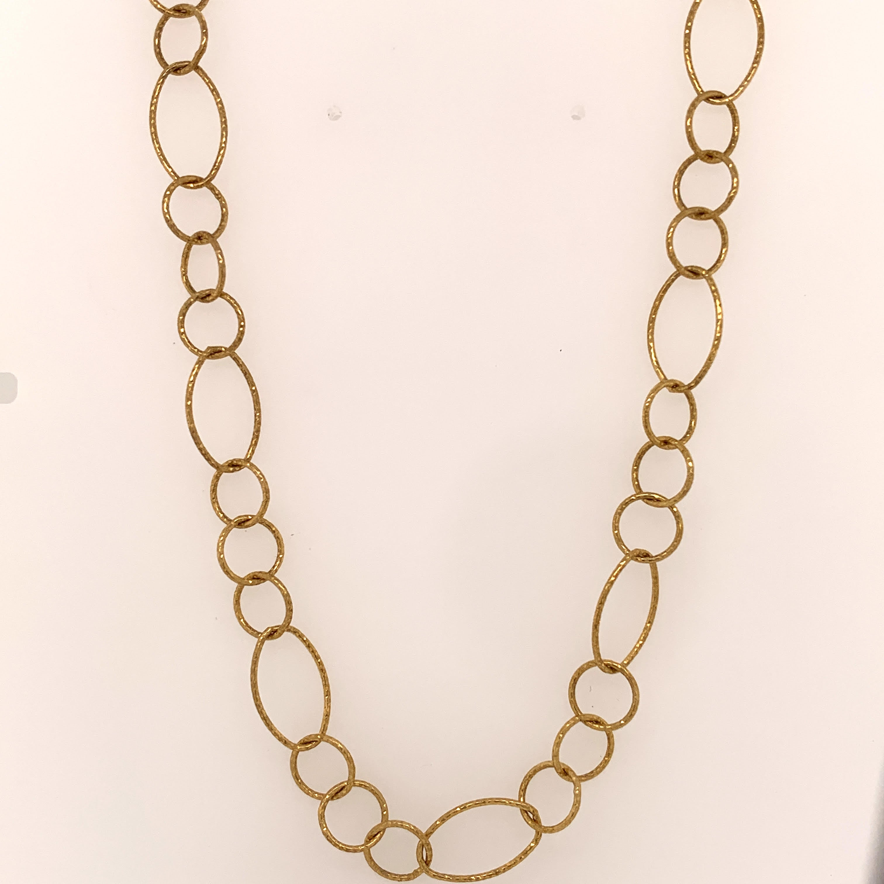 Long Circle and Oval Necklace