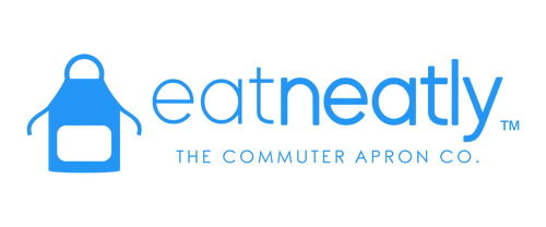 Eat in your car with the EatNeatly Commuter Kit. Protect your clothes with a water-resistant apron, food tray for dipping sauce. Condiment tray. Social distance and eat in your car. Drink coffee and stop worrying about stains on your clothes.
