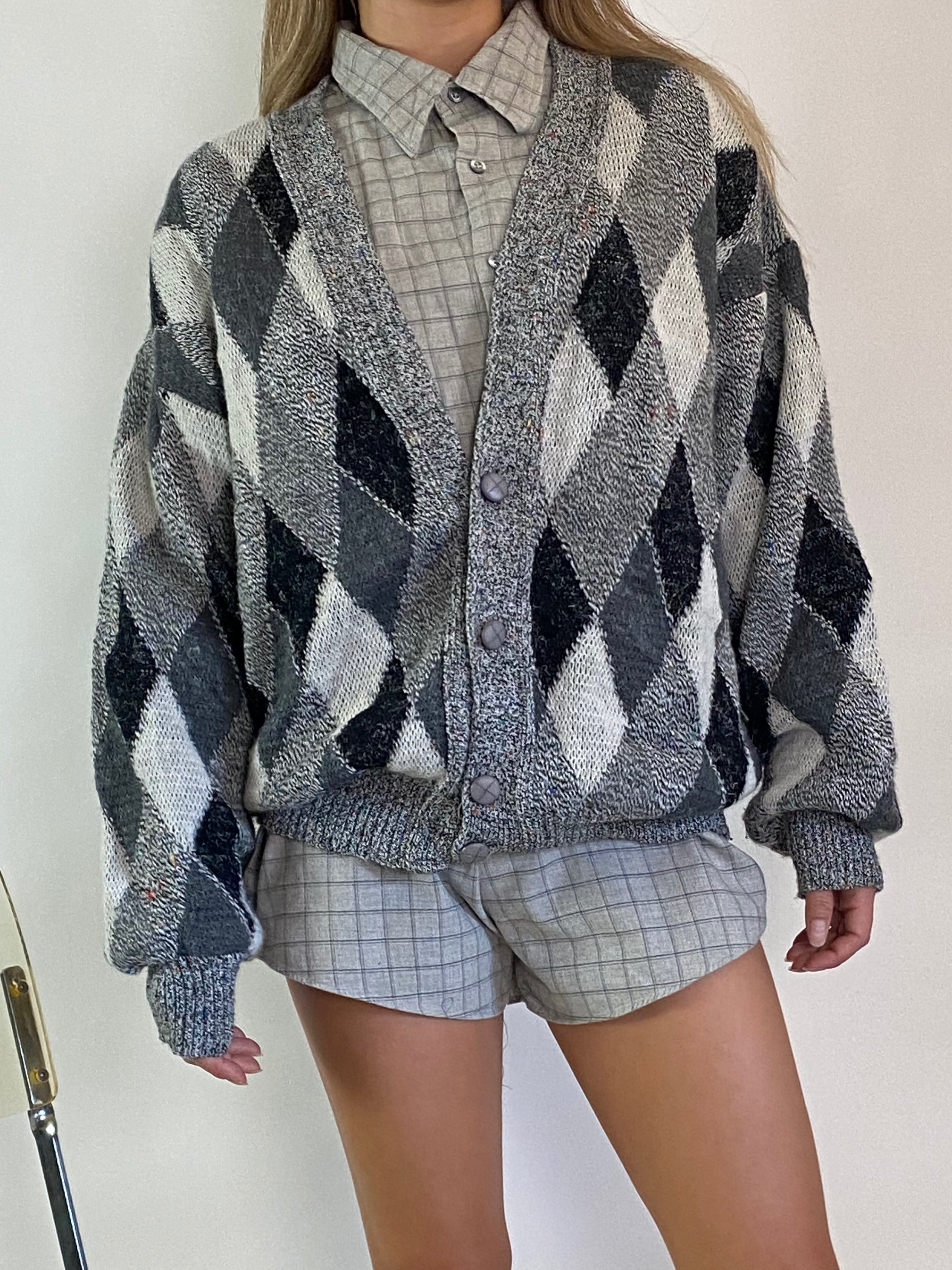 Vintage knitted cardigan sweater