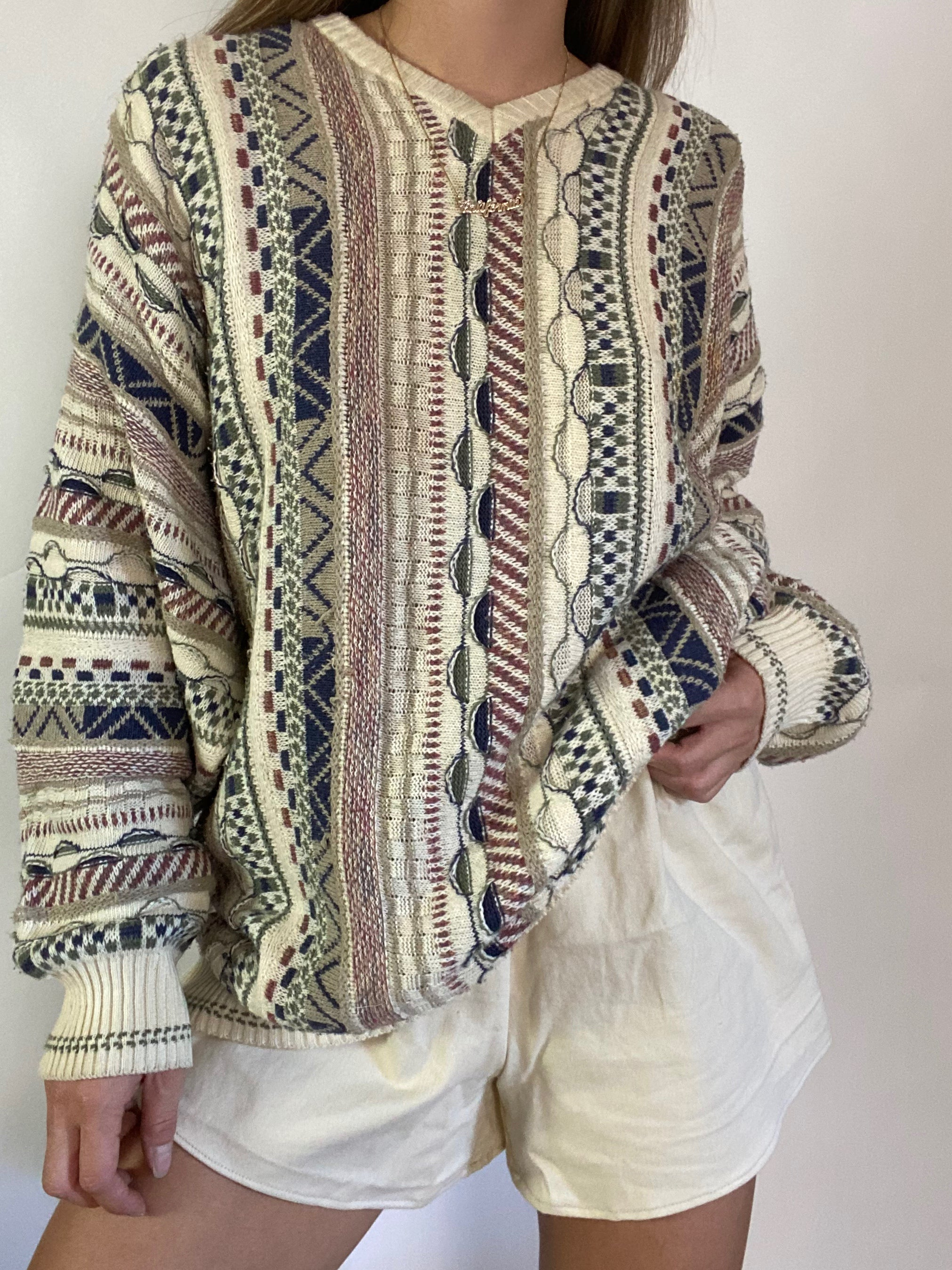 Vintage cable knit sweater