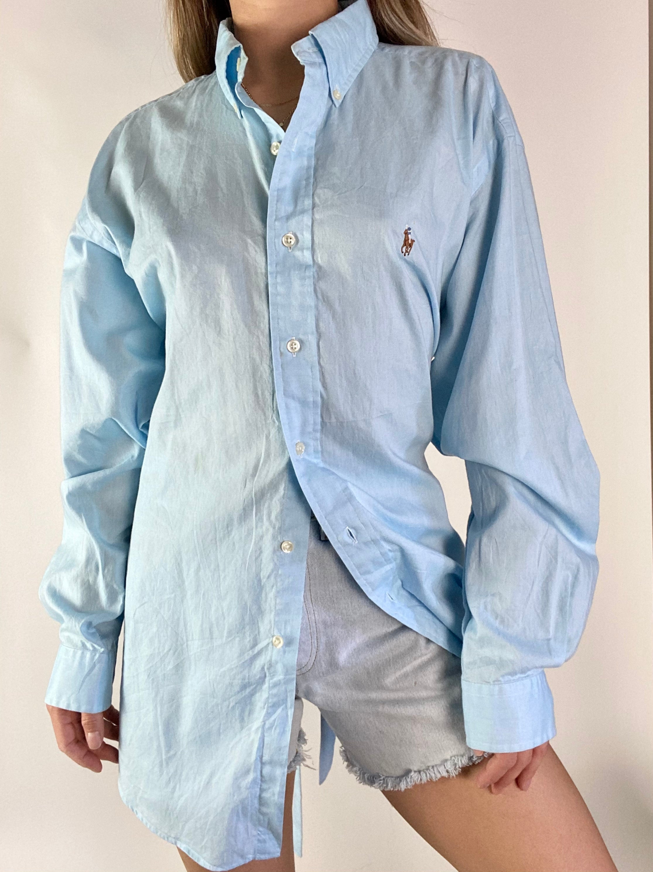 vintage men's polo reworked backless shirts