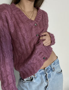Vintage mohair sweater cardigan