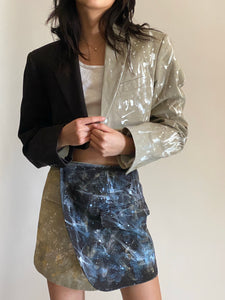 2in1 collection painted reworked blazer two piece set