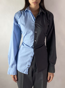 2in1 Collection vintage men's reworked backless shirts