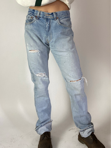 Vintage Reworked Levi's 501 Denim