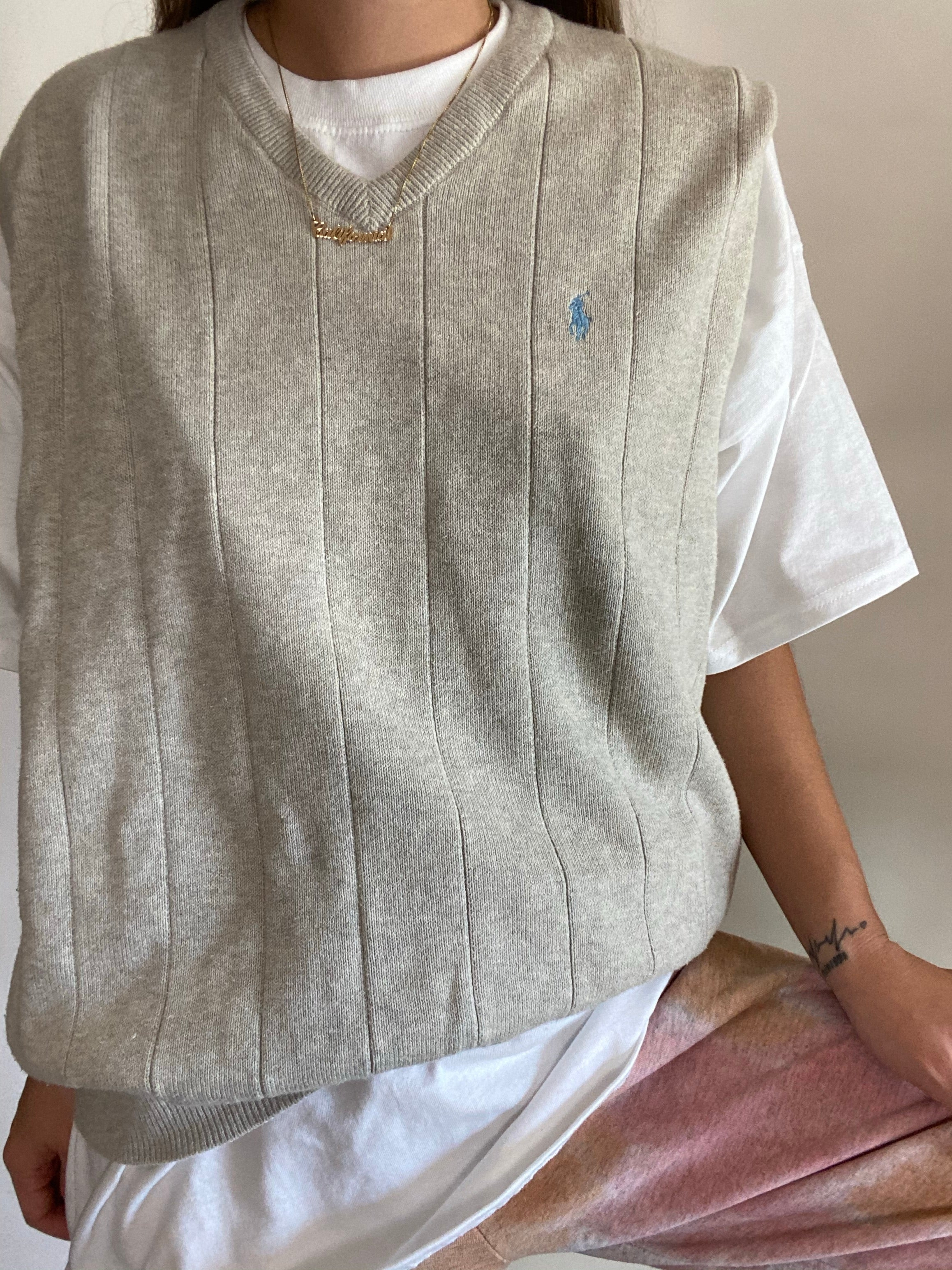 Vintage Polo sweater vest