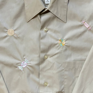 Reworked Shirts set with candy embroidery