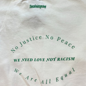 We need love not racism vintage reworked sweatshirts