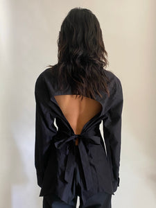 Vintage reworked backless shirts