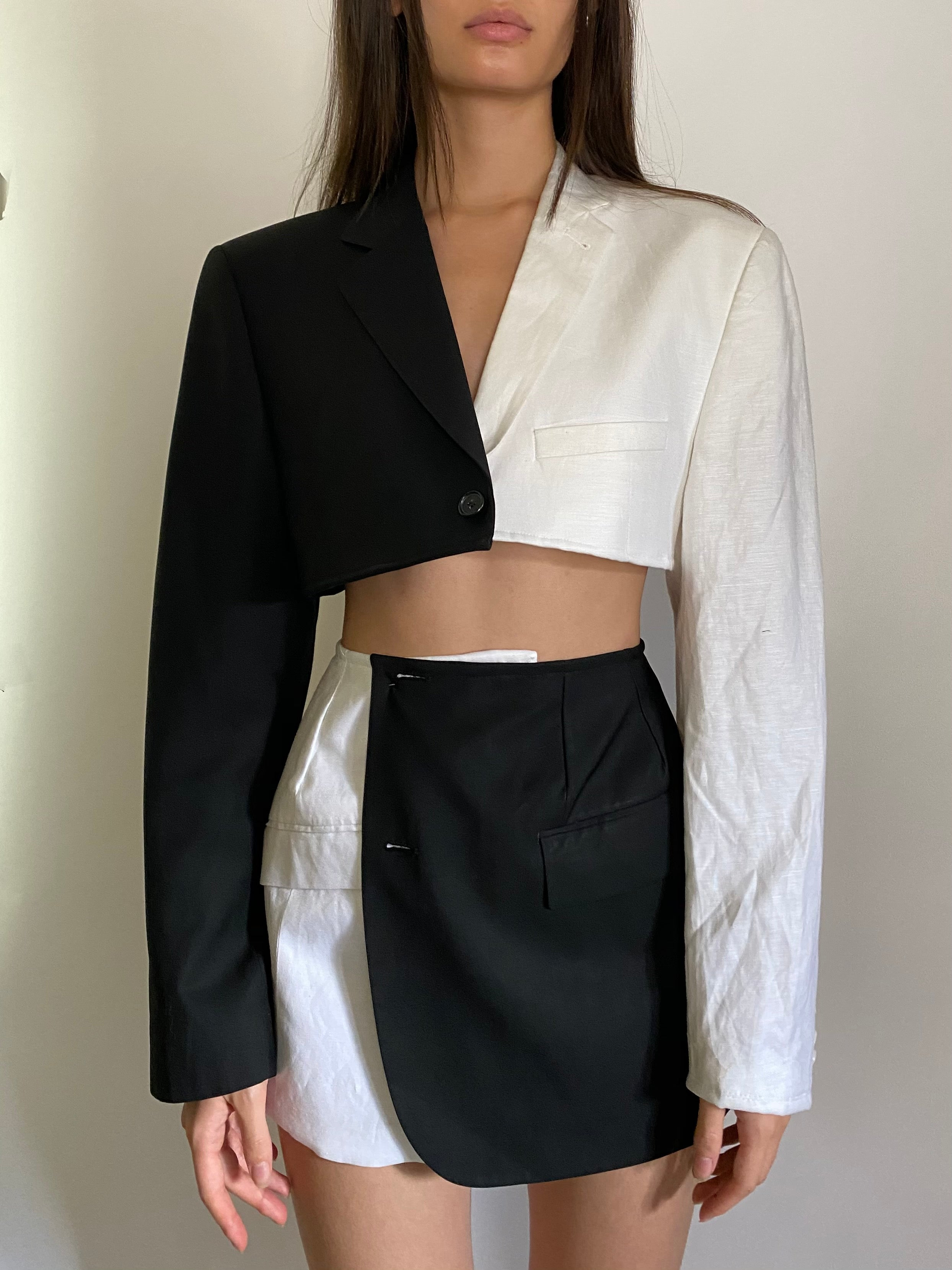 2in1 Collection reworked blazer two piece set