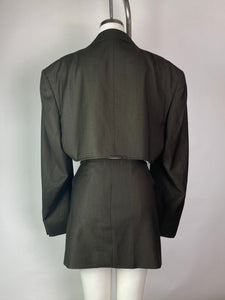 Vintage Pierre Balmain blazer reworked skirt set