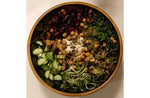Warm Salad Bowl with Kale and Chickpeas 4-ways