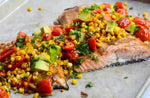 Roasted Salmon with Corn, Tomato and Avocado Salsa